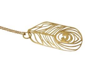 harriet bedford 18ct gold vermeil peacock pendant